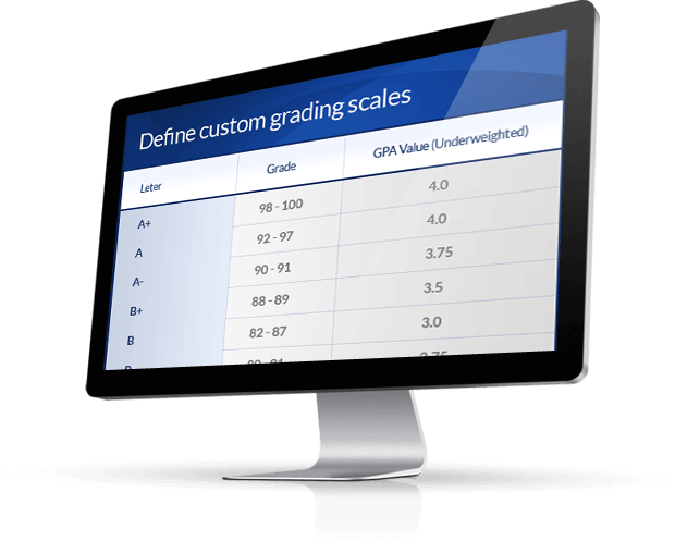 ScholarLMS - LMS learning management system custom grades