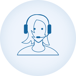 scholarlms-customer support-blue line icon-circle