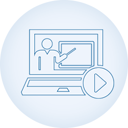 scholarlms-online classrooms-blue-line icon-circle