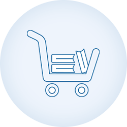 scholarlms-shopping cart-blue line icon-circle