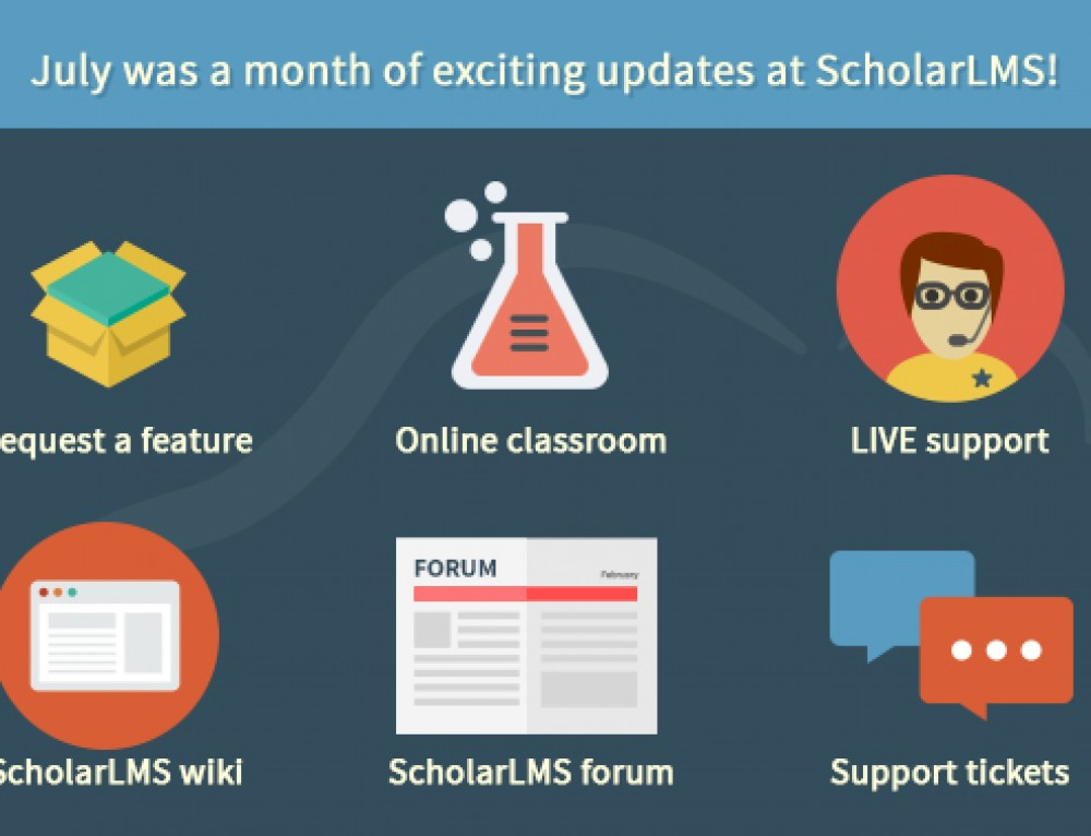July was a month of exciting updates at ScholarLMS